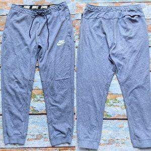 Nike tech gray joggers tapered leg women's size L